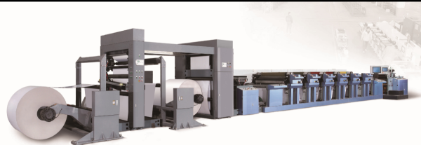 Flexo printing machine for packaging