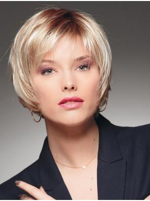 Blonde Straight Short Convenient Lace Wigs