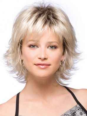 Soft Blonde Straight Synthetic Wigs