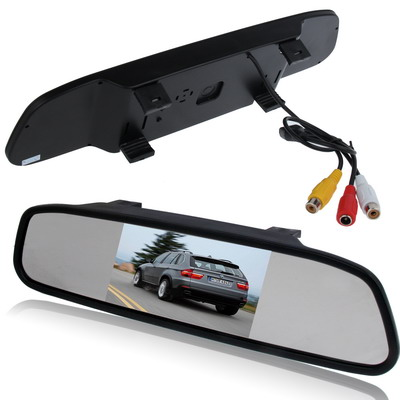 4.3 inch Rear View TFT-LCD Color Car Monitor , Support Reverse Automatic Screen Function