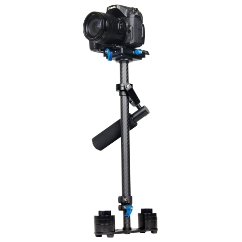 YELANGU S60T 60cm Carbon Fiber Handheld Stabilizer for DSLR Camera DV(Black)