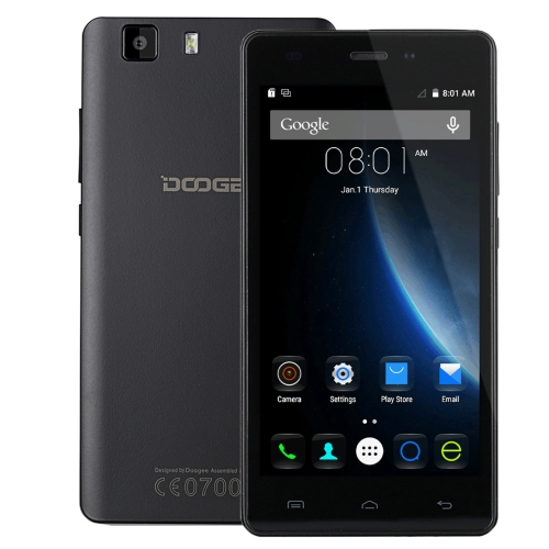 DOOGEE X5S 8GB, Network: 4G,5.0 inch HD Screen Android 5.1 MT6735 64Bit Quad Core 1.0GHz, RAM: 1GB(B