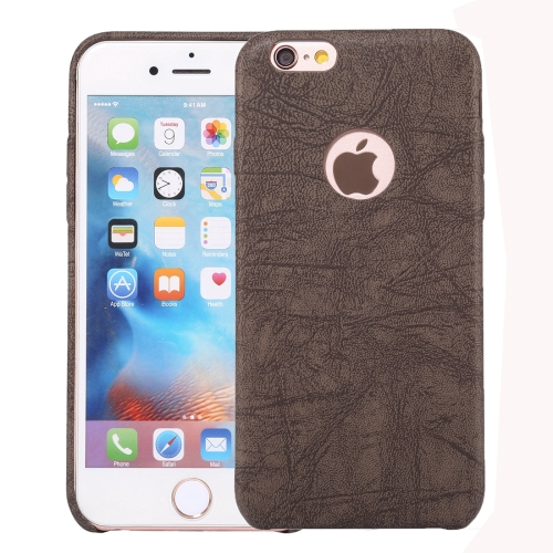 For iPhone 6 & 6s Ultra-thin Stone Texture PU Leather Back Cover Case(Coffee)