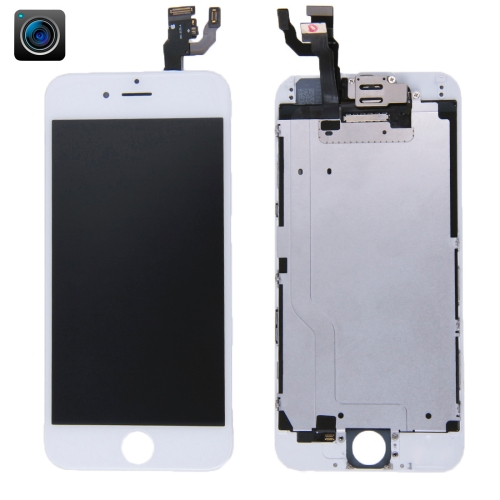 iPartsBuy 4 in 1 for iPhone 6 (Front Camera + LCD + Frame + Touch Pad) Digitizer Assembly(White)