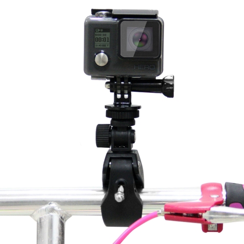 PULUZ Motorcycle Bicycle Handlebar Holder with Tripod Mount & Screw for GoPro HERO4 Session /4 /3+ /
