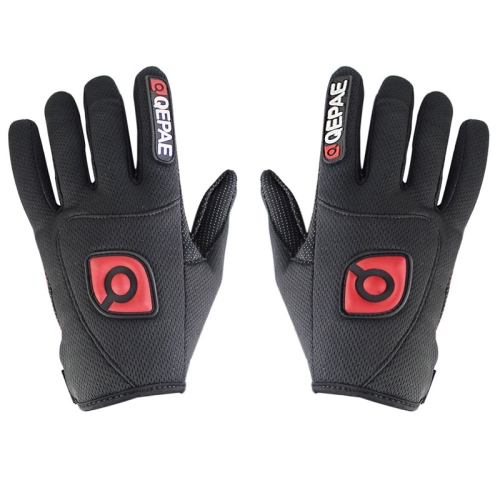 Qepae Cycling Bicycle / Motorcycle Monster Outdoor Sports Nylon Gloves, Size: M(Black)