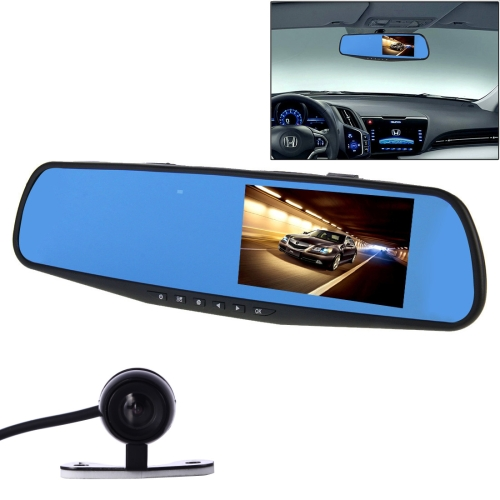 G20 HD 1080P 4.3 inch Screen Display Vehicle DVR with Reversing Camera, Generalplus 2248 Programs, 1