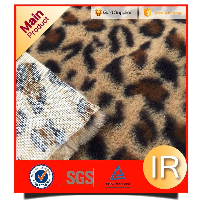 long pile soft toys home textile curtain bag blanket 100 polyester leopard printed pv plush