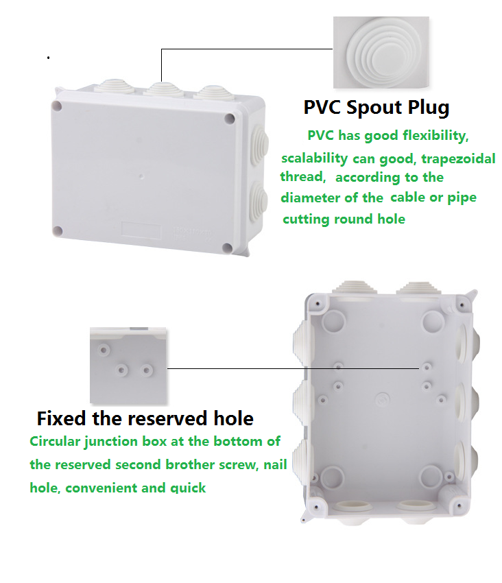 Waterproof electrical connector connecting box terminal box