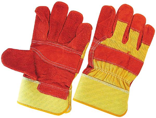 leather gloves patched palm