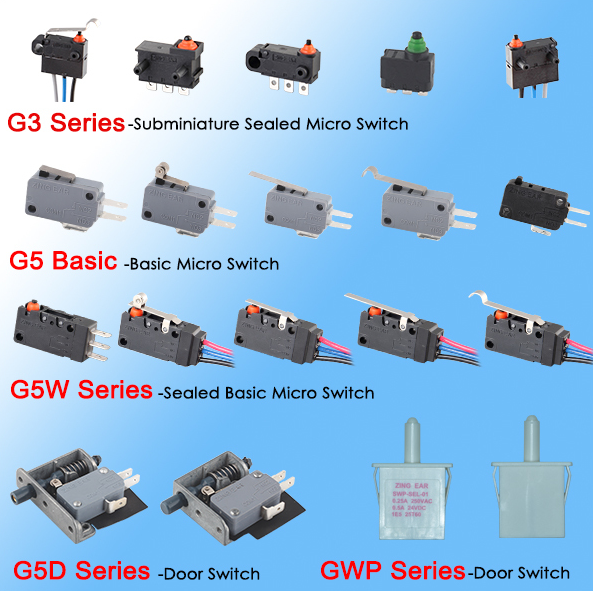 auto switch waterproof micro switch