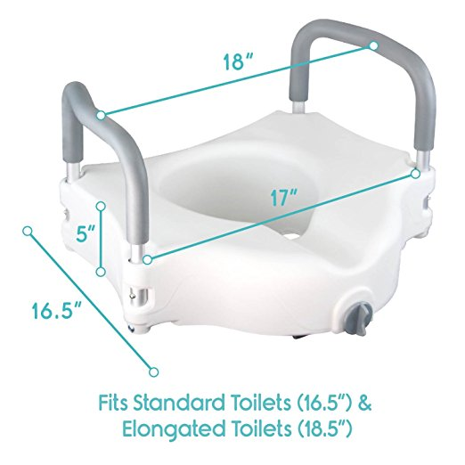 toilet riser with handles