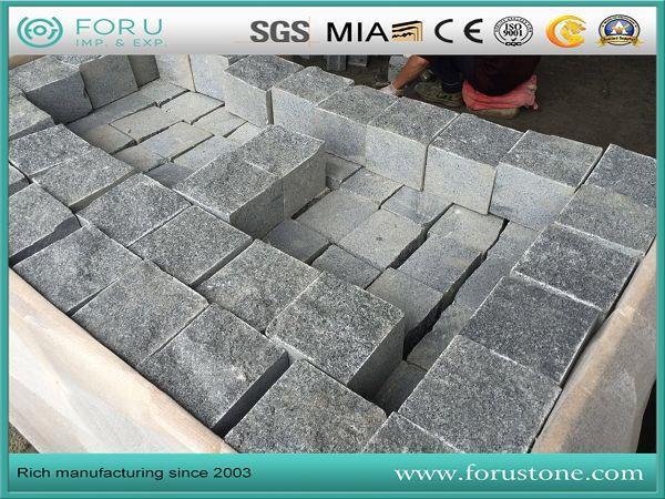 hotsell G654 cobblestone  pacing dark grey cobblestone for driveway (2)(001).jpg