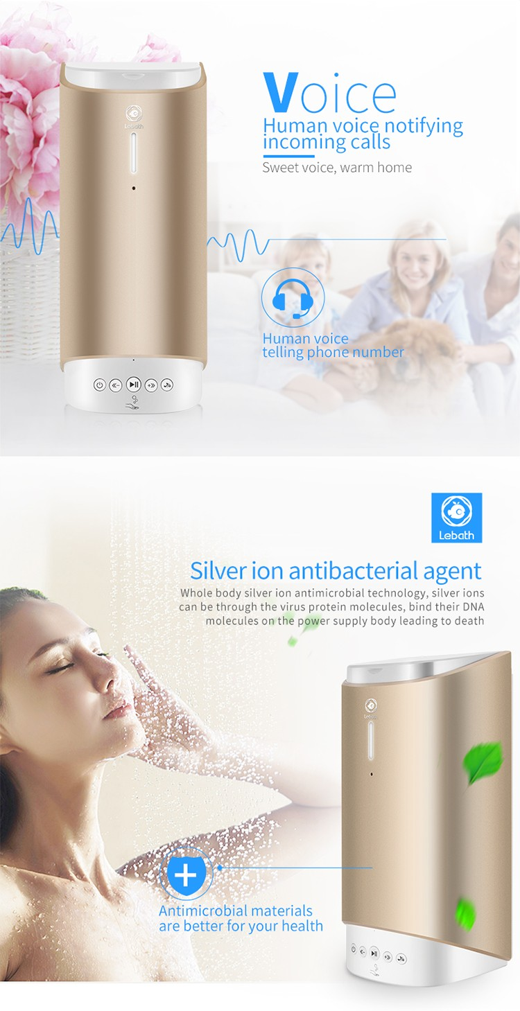 Bluetooth Music Foaming Dispenser Home Rechargeable Automatic Smart Foam Dispenser12