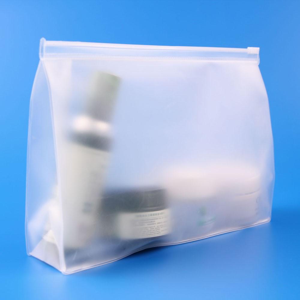 Clear Plastic Stand Up Vinyl PVC Zipper Pouch