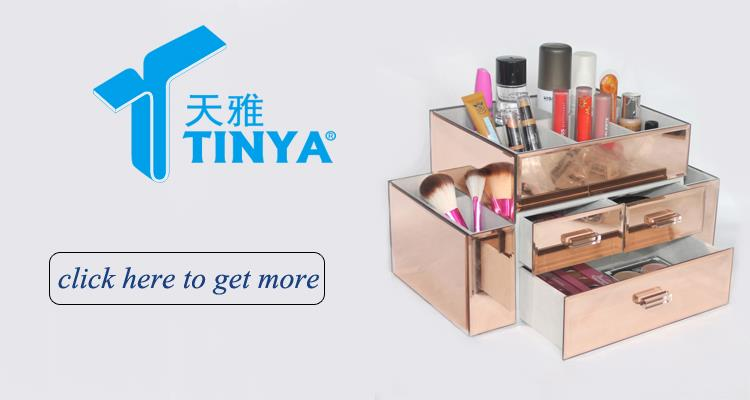 China supplier new design pretty plastic clear plastic makeup organizer with drawers