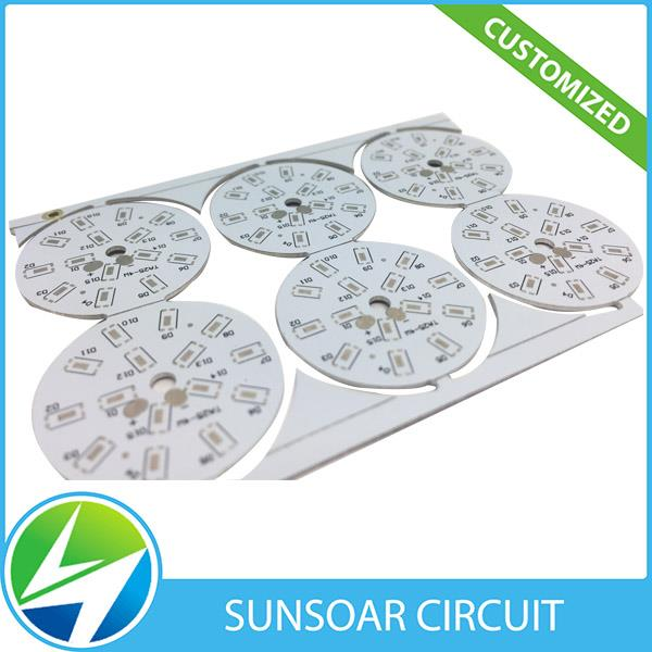 Oem Customized Single sided High-power aluminum led light pcb with smd service