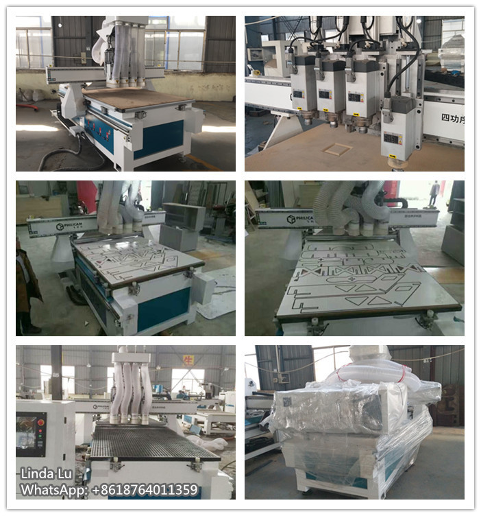 multi spindle cnc router for wood cabinet furniture