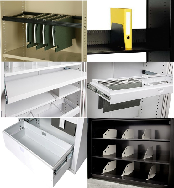 High Quality Customized Steel Movable Tambour Door Cabinet With Casters