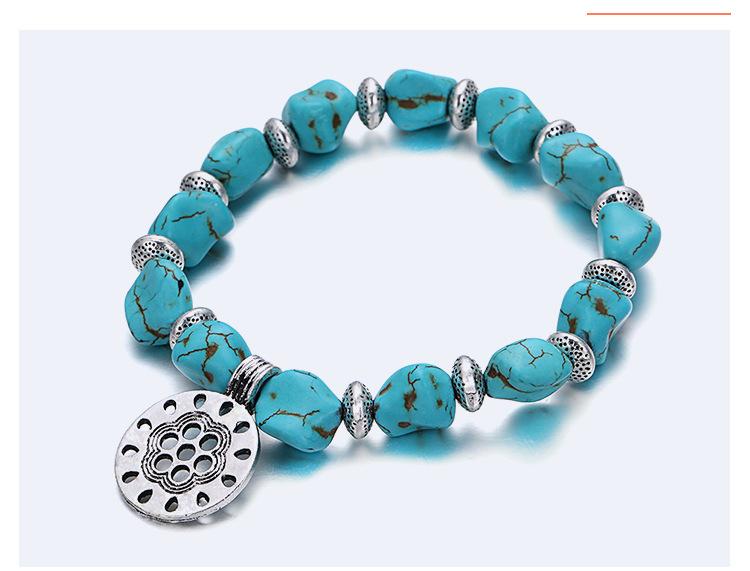 beaded hand charm bracelet