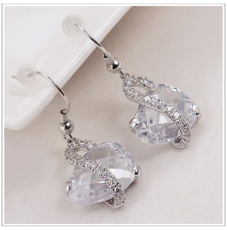 Water Drop Necklace Earrings
