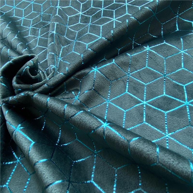 Foil print velvet fabric