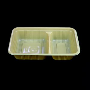 Microwave PP Plastic Lunch Box With 2 Dividers