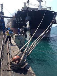 Marine fender installation