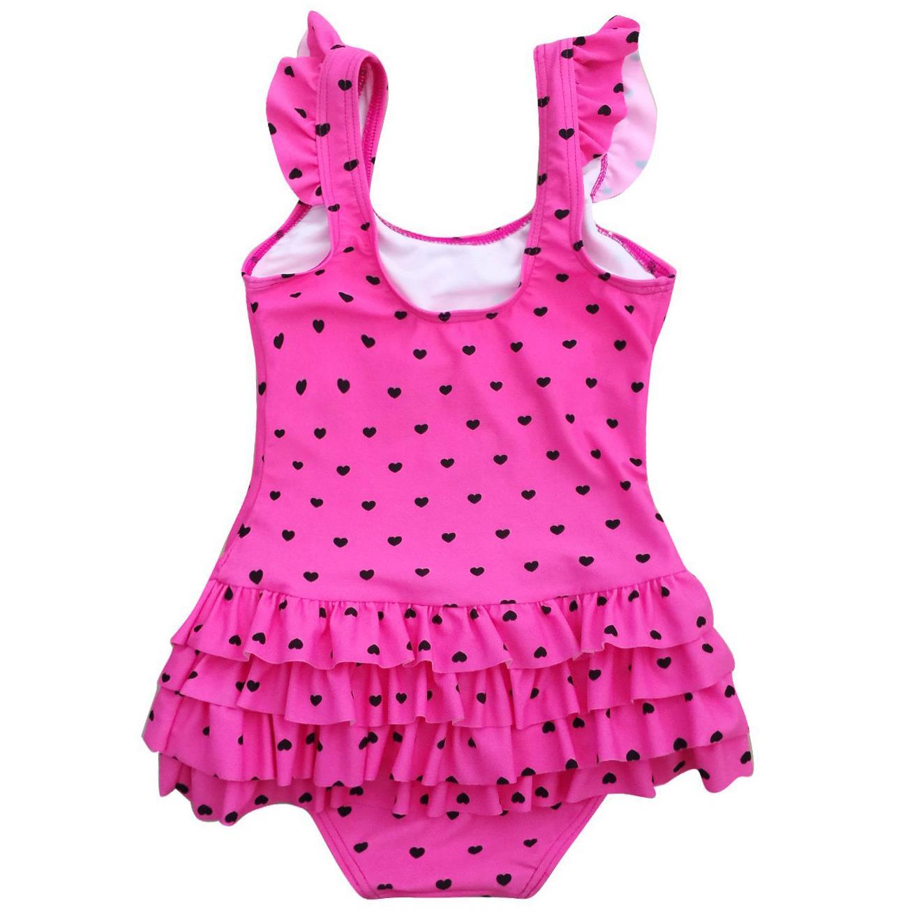 Baby girls swimsuit one piece pink-blk heart-back.jpg