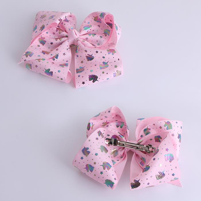 Cute Printed Ribbon Bow Knot Hair Clip For Girls.JPG