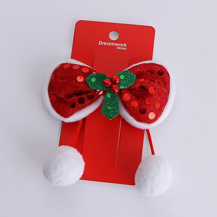 Christmas Sequin Bows Hair Clips Kids Hairpins.jpg