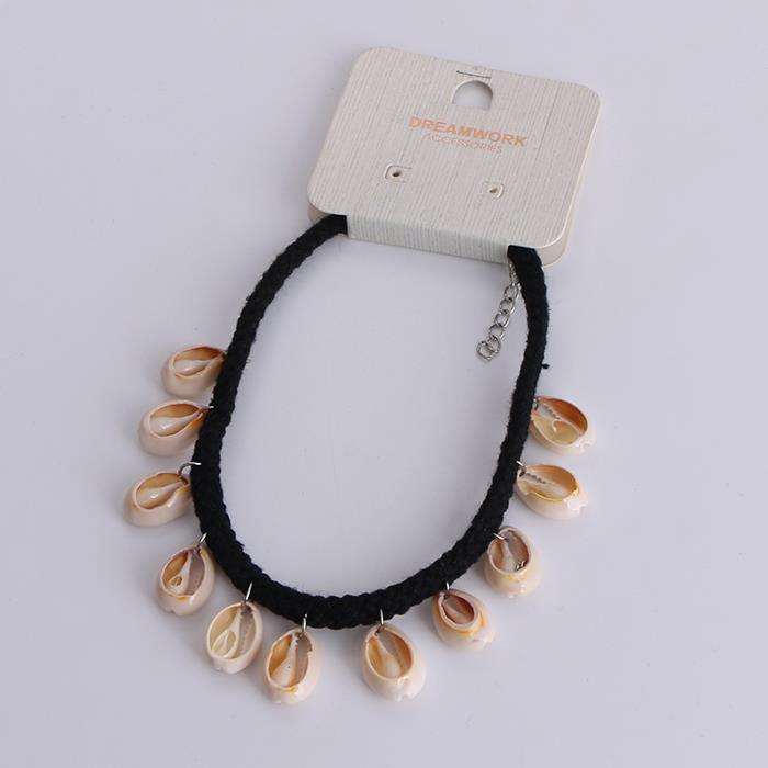 Simple Handmade Bohemia With Shell Choker Necklace.jpg