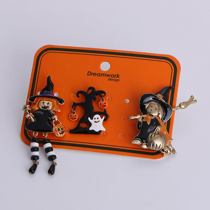 3pcs/Set Witch Tree Hard Enamel Pin Set Halloween Jewelry.jpg