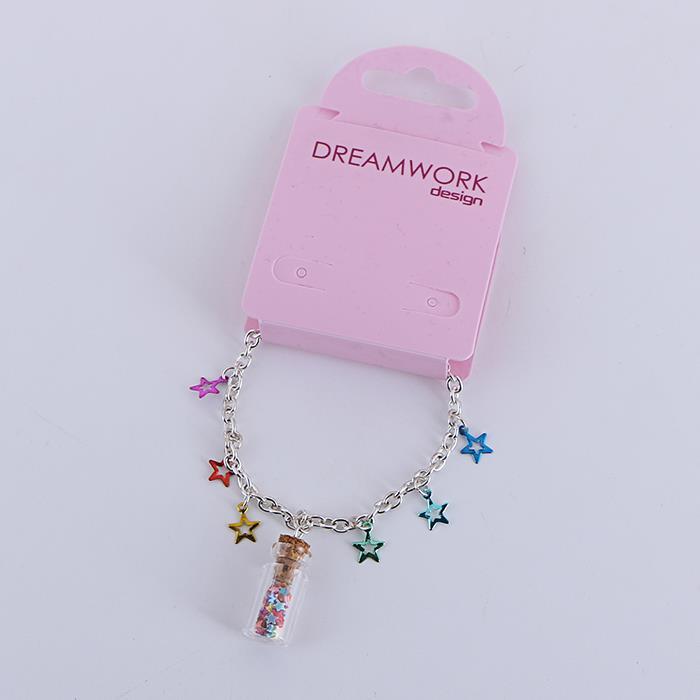 Charm Colorful Star Drifting Bottle Pendant Bracelet Anklet.jpg