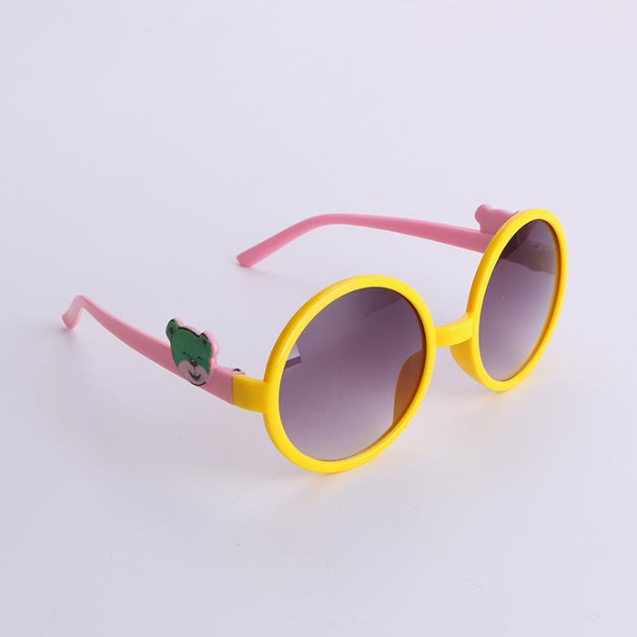 Cute Bear Children Sun Glasses Round Eyeglasses For Kids.jpg