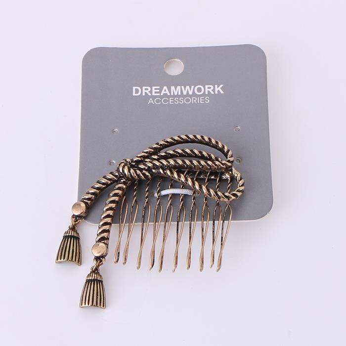 Retro ancient bronze bowknot hair comb.JPG