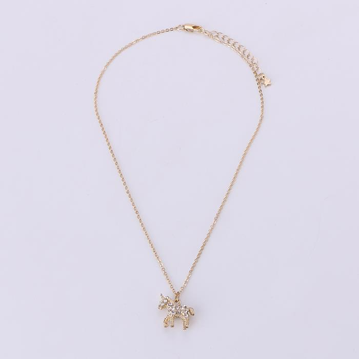 Cute and delicate unicorn diamond necklace.JPG