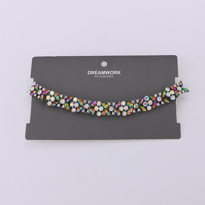 Fashion wild temperament short diamond necklace.JPG