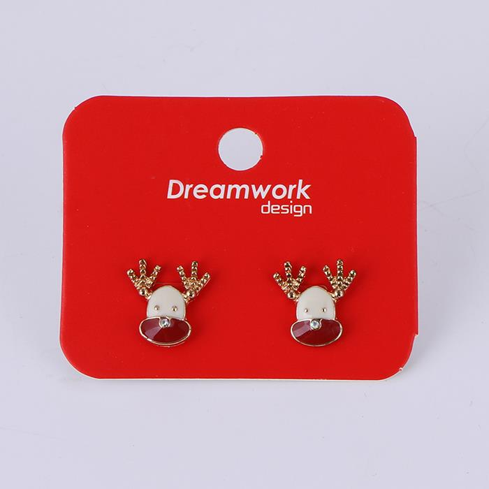 Cute simple elk temperament earrings.JPG