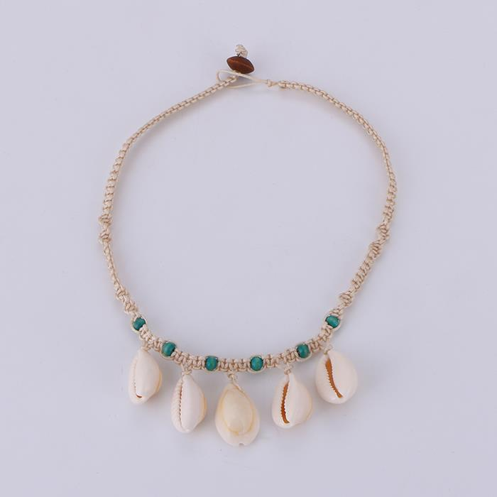 Handmade original woven shell necklace.JPG