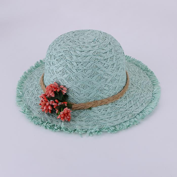 Casual Handmade Woven Floral Wide Brim Sun Hats.JPG