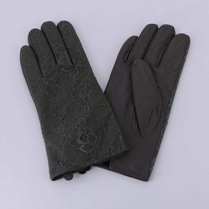 Classic Lace Leather Gloves Winter Finger Soft Gloves.JPG