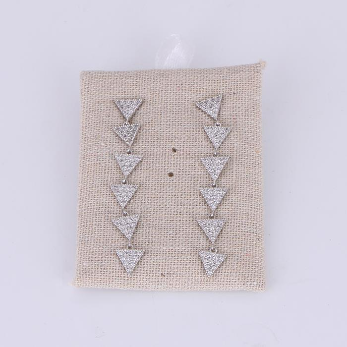 Shiny Geometric Triangle Zircon Tassel Dangle Earring.jpg