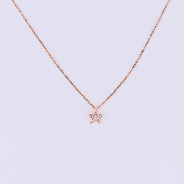 Charm Zircon Star Pendant Necklace.JPG