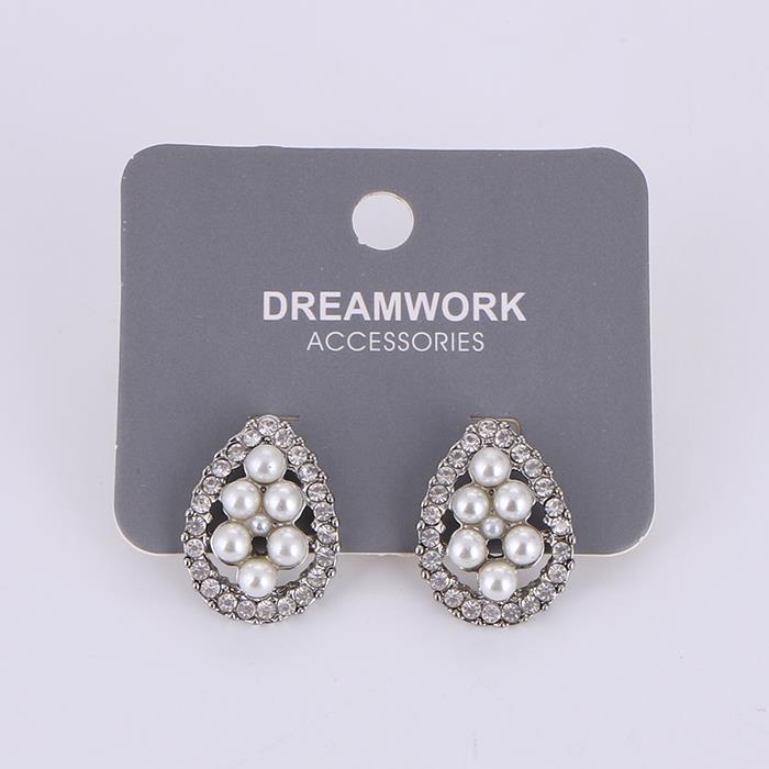 Charm Shiny Water Drop Zircon Earring.JPG