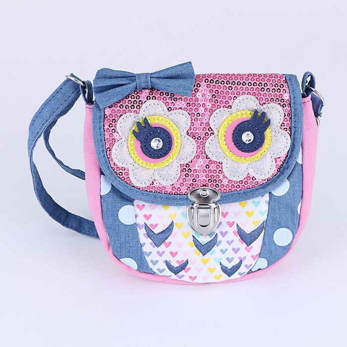 Cute Owl Fabric Crossbody Shoulder Bag.jpg