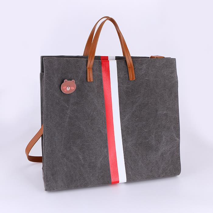 Casual Shoulder Bag Tote Canvas Leather Handbags .JPG