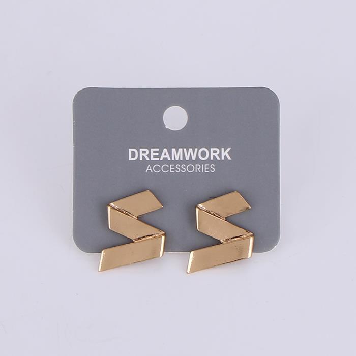 Minimalist Smooth Line Metal Geometric Stud Earrings .JPG