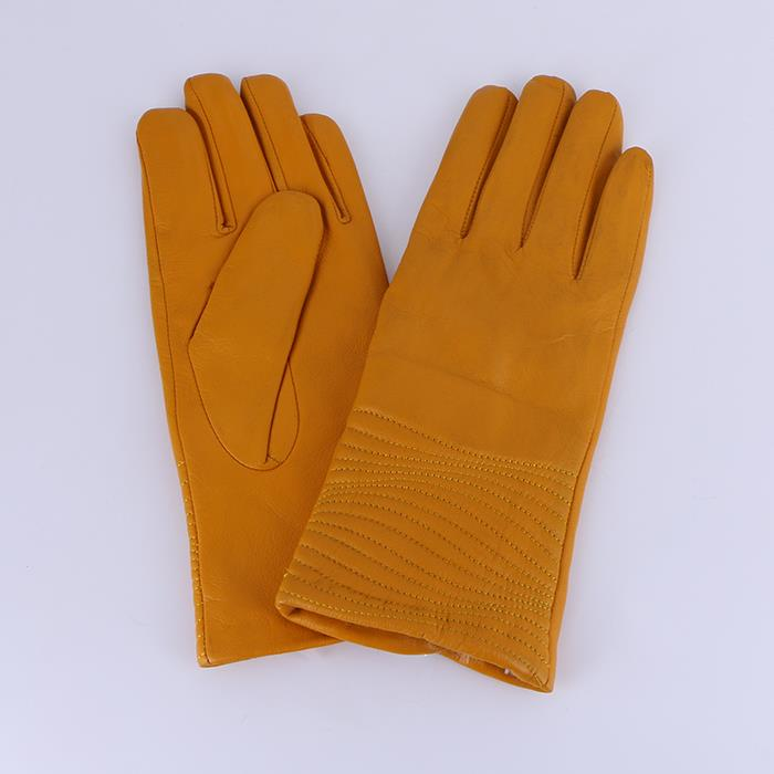Women's autumn and winter leather thick warm gloves.JPG