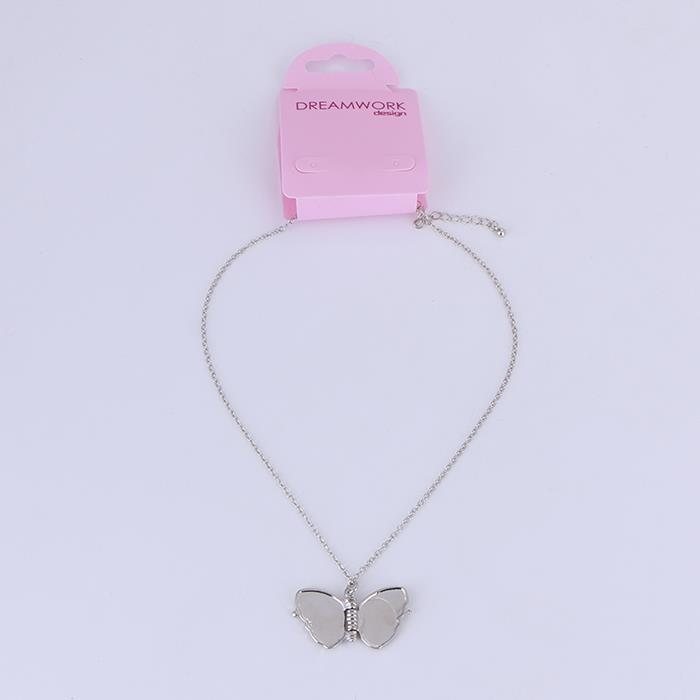 Elegant Butterfly Rhinestone Pendant Necklace.JPG